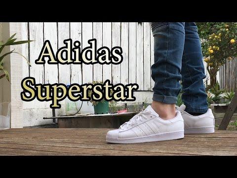 Adidas Superstar Originals | Triple White | On Feet w/ Different Bottoms