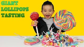 Giant Lollipops Tasting Chupa Chups Giant Candy Rainbow Swirl Giant Sweets Ckn Toys