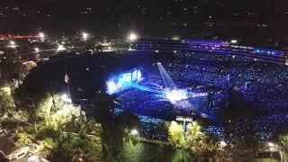 """Drone Flight. """"BTS World Tour""""Rose Bowl Concert 5/4/19"""