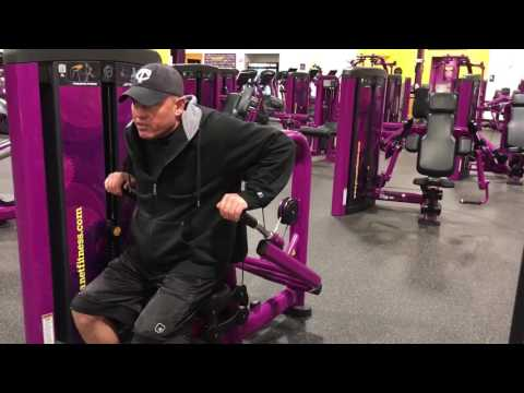Planet Fitness Triceps Press Machine- How to use the triceps press machine