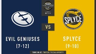 Evil Geniuses vs Splyce | CWL Pro League 2019 | Cross-Division | Week 11 | Day 2