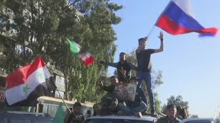 Syrians take to the streets of Damascus to protest airstrikes - Video Youtube