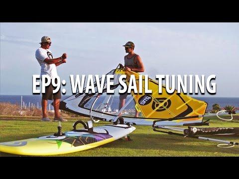 TWS Wave Technique Series – Ep 9: Wave sail tune, downhaul, outhaul, boom, batten, windsurfing