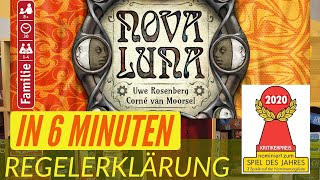 Nova Luna - Regeln - Aufbau - Anleitung - Regelerklärung - Nominiert Spiel des Jahres 2020