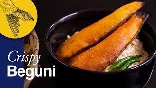 Crispiest Beguni Recipe-Bengali batter-fried brinjals-chop telebhaja recipe