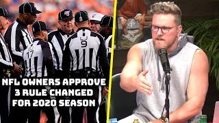 Pat McAfee Breaks Down The NFL's Rule Changes And What They Mean For The Game