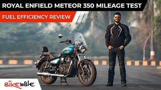 2021 Royal Enfield Meteor 350 Mileage Test | Real World Fuel Economy and Average Review | BikeWale