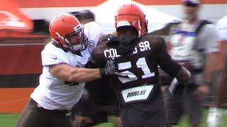First day of tackling in full pads at Browns training camp