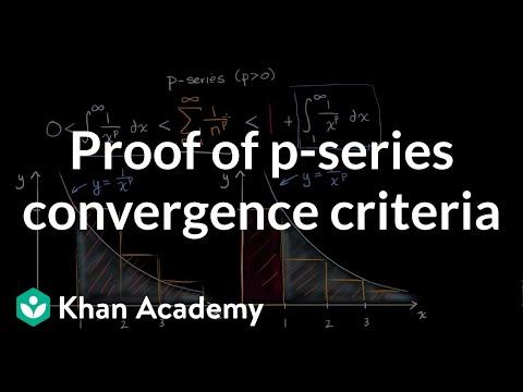 Proof of p-series convergence criteria (video) | Khan Academy