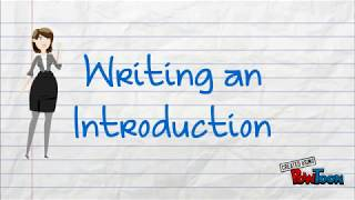 Learn to Write an Introduction Paragraph!