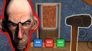 Полностью Прошёл весь Дом Злого Соседа и Нашёл все Кубы! Конец Злой Сосед! - Angry Neighbor
