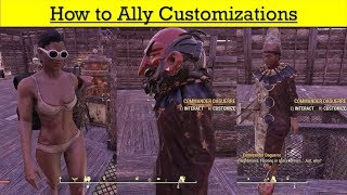 Fallout 76 Wastelanders Update 19 - How to Ally Customizations