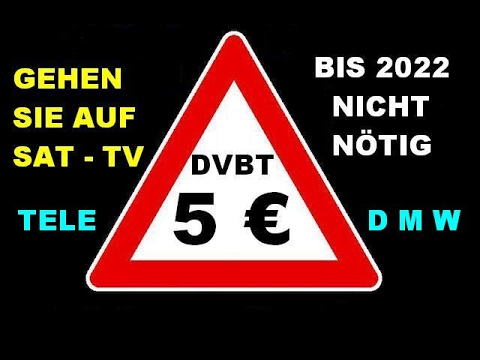 DVB -T2 HD Freenet - 5,75 €  im Monat nicht nötig !!! - Es geht auch bis 2022 kostenlos weiter !!!