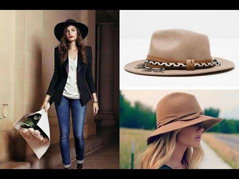 OUTFITS con sombrero | cómo llevar y combinar sombrero tendencias  2018 #streetstyle