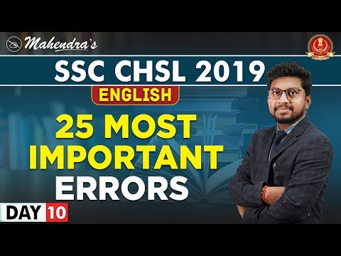 Download Top 25 + Errors   English   By Amit Mahendras   SSC CHSL 2019   3:15 pm Mp4 HD Video and MP3