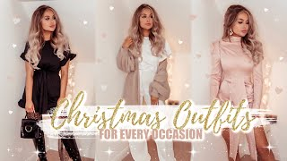 CHRISTMAS OUTFIT HAUL: Cosy Loungewear, Party Glam, Winter Fashion Try On + Styling