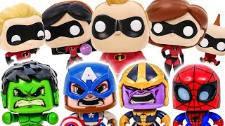 THANOS appeared ! The Avengers Hero Hulk, Spider, Iron Man in Dangers~! Disney the Incredibles 2