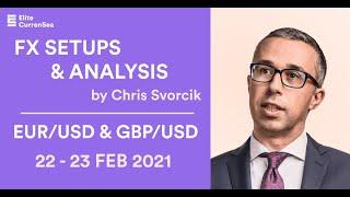 EUR/USD, GBP/USD Analysis & Setups 22 - 23 Feb 2021
