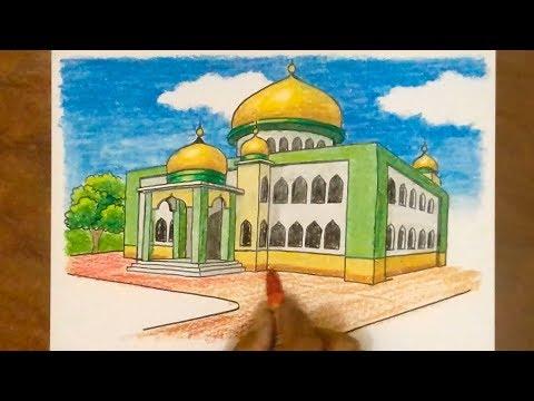 Cara Mewarnai Masjid смотреть онлайн на Hahlife