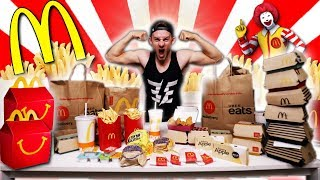 THE $100 MCDONALDS MENU CHALLENGE! (12,000+ CALORIES)