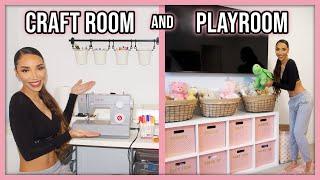 Craft Room & Playroom Makeover! | Home Decor Update #3