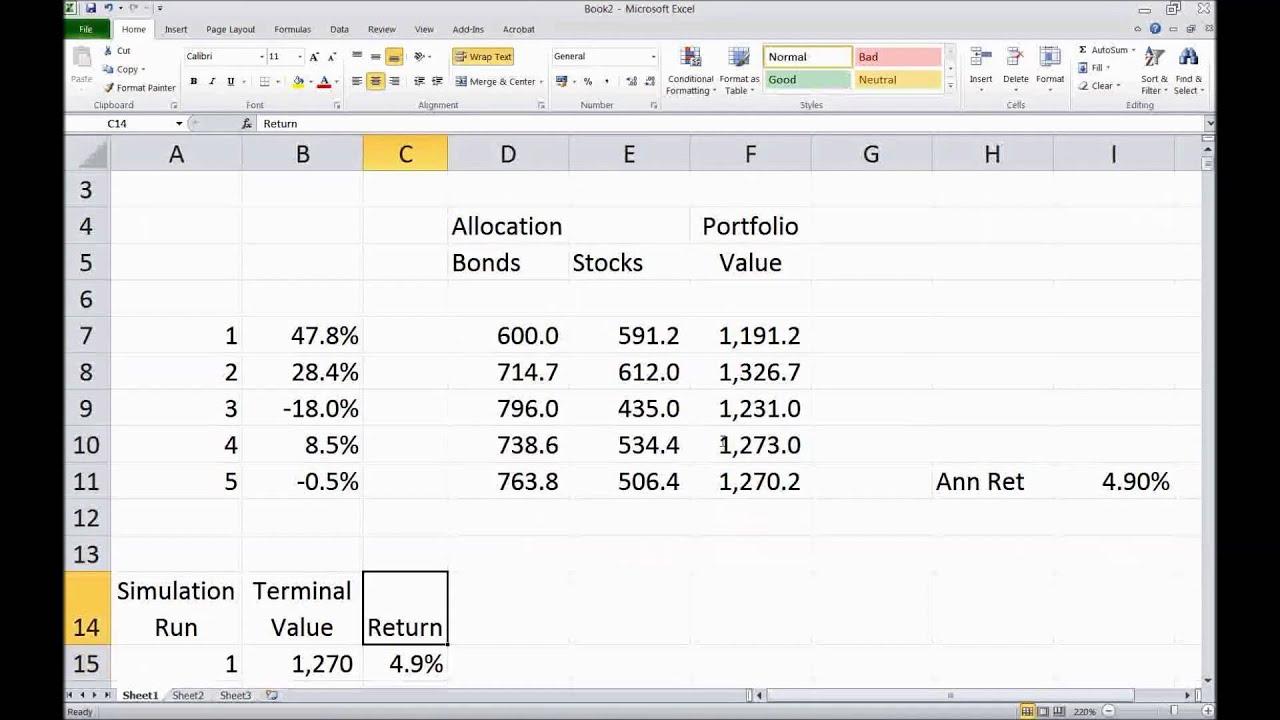 Monte Carlo Simulation In Excel Practice University Of Groningen