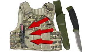 How to attach MORA knife MORAKNIV to MOLLE webbing on your Tac-Vest/Backpack/Battle Belt
