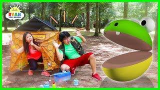 Pac-Man in Real life Camping Trip vs Ryan