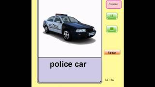 Audio Flashcards for Kids - Vehicles and Transportation