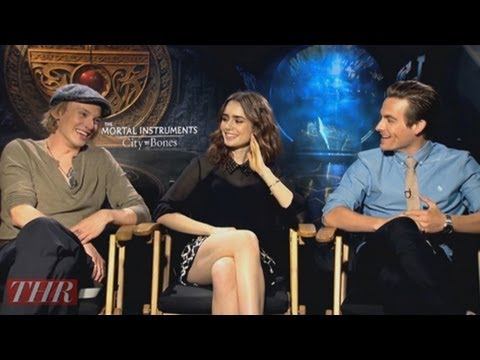 Lily Collins and the Cast of 'The Mortal Instruments: City of Bones'