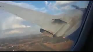 Падение самолета в Южной Африке заснятое пассажиром
