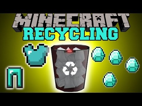 Minecraft: RECYCLING (UNCRAFT & RECYCLE ITEMS FOR MATERIALS!) Mod Showcase