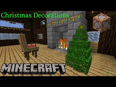 Minecraft 1.11: Christmas Decorations Only Two Commands | NO MODS ...