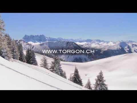 Das Skigebiet Torgon im Winter