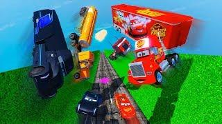 Crash Cars 3 Trucks Gale Beaufort Jerry Truck Mack And Friends Car Lightning McQueen Jackson Storm