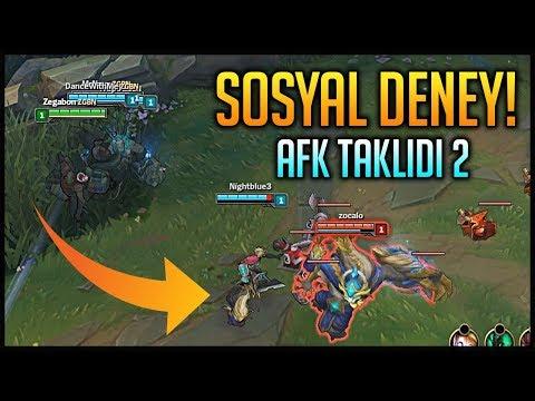 LOL'DE SOSYAL DENEY    AFK TAKLİDİ YAPTIK #2