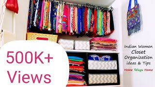 Wardrobe Organization Ideas & Tips    Women Closet Organization    Home Telugu Home
