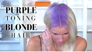 PURPLE TONING TREATMENT on BLONDE HAIR + BRIGHTENING SHAMPOO ROUTINE