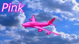 Видео про цветные самолетики для детей на английском языке Умный мультик для малышей