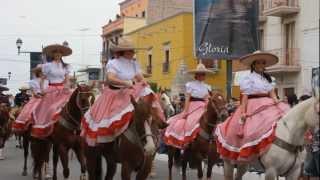 preview picture of video 'Desfile de inauguración, Fiestas 2013 San Julián'