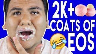 100 Coats Of EOS Lip Balm!!! - HOW MANY COATS ARE IN A EOS LIP BALM???