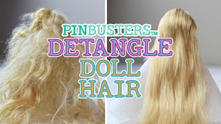 How To Detangle Doll Hair // TESTING ANOTHER PINTEREST PIN!