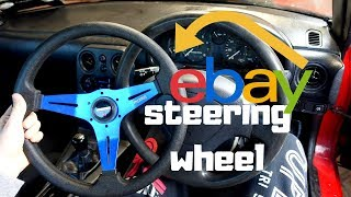 eBay steering wheel Install and Review ! - Lifted Mx5