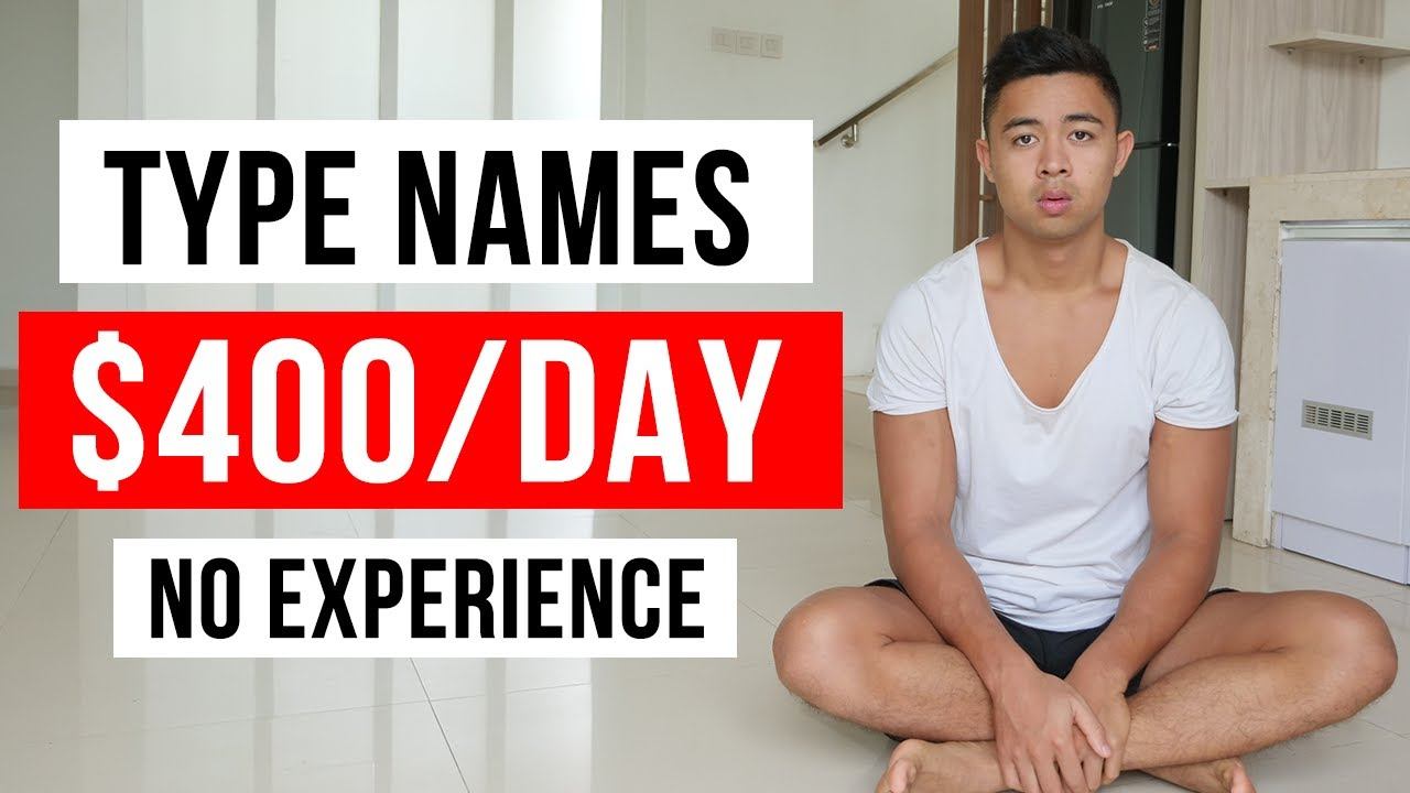Make $400 By Typing Names (Generate Income Online) thumbnail