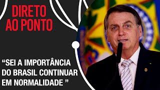 Bolsonaro fala sobre o pós 7 de setembro e conversas com Temer e Moraes