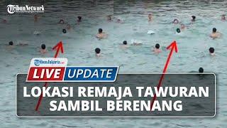 LIVE UPDATE Suasana Lokasi Sekelompok Remaja Tawuran Sambil Berenang yang Videonya Viral