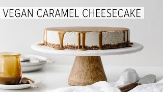 VEGAN CARAMEL CHEESECAKE | Gluten-free Vegan Cheesecake