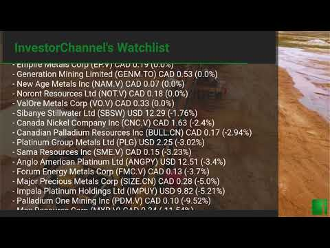InvestorChannel's Palladium Watchlist Update for Thursday, September 17, 2020, 16:30 EST