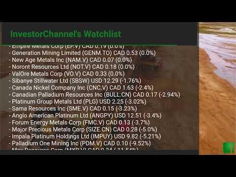 InvestorChannel's Palladium Watchlist Update for Thursday, September 17, 2020, 16:30 EST