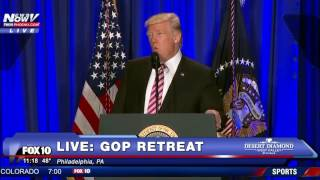 FNN: President  Donald Trump at GOP Retreat in Philadelphia